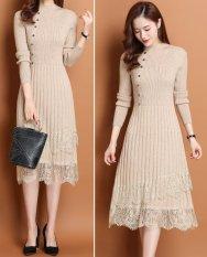 Đầm Váy Len Nữ Dáng Dài Mùa ĐôngĐẹp Dự Tiệc, ĐI Làm, ĐI chơi