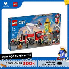 LEGO CITY 60282 Xe Đầu Kéo Chữa Cháy ( 380 Chi tiết) Bộ gạch đồ chơi lắp ráp cho trẻ em