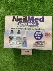 Bộ rửa mũi Neilmed (250 gói muối + 2 bình 240ml + 1 chai xịt)