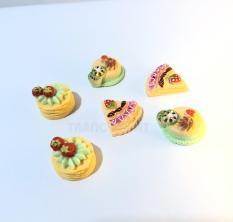 [HCM]Combo 3 charm đồ ăn bánh kem đồ chơi phụ kiện trang trí nhà búp bê