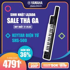 Đàn Keytar điện tử Yamaha SHS-500 – Âm sắc chất lượng cao, đa âm 48 nốt – Chức năng JAM chơi những bản nhạc yêu thích ngay tại chỗ – Bàn phím mini 37 phím chuyên nghiệp – Bảo hành chính hãng 12 tháng (màu đen)