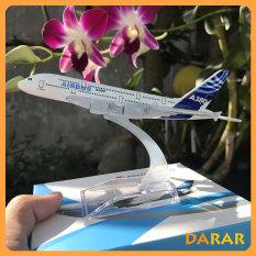 Mô Hình Máy Bay – Máy bay mô hình AIRBUS A380 đúc Kim Loại có kèm đế trưng bày