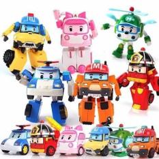 [HCM]Bộ 6 xe Robocar Poli biến hình nhựa tốt