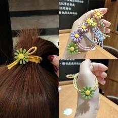 Set 5 Dây Cột Tóc Hoa Cúc Mặt Trời Siêu Dễ Thương Phong Cách Hàn Quốc