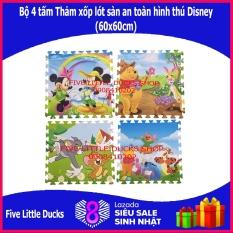 Bộ 4 tấm Thảm xốp lót sàn an toàn cho bé hình thú Disney – 60x60cm – xuất xứ Việt Nam