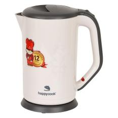 Ấm Đun Siêu Tốc Inox 304 2 Lớp 1.7 Lít Happy Cook HEK-17WF