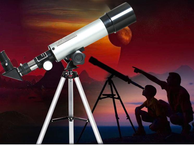 Kính thiên văn cao cấp, phóng đại tầm nhìn lên 18x, 27x, 60x, 90x, 2 thấu kính bằng thủy tinh quang học loại tốt