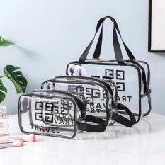Sét 3 túi Givenchy Travel bằng nhựa trong suốt đủ cỡ đa năng, tiện dụng