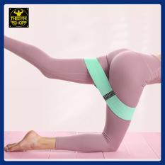 Dây mini band vải siêu bền, dây kháng lực resistance band Valeo Fitness miniband tập gym hỗ trợ tập chân mông