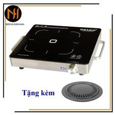 (GIẢM THÊM 10% tối đa 180k)Bếp hồng ngoại OSAKO OHA-1820 công suất 2000W mặt kính Ceramic, khung thép không gỉ