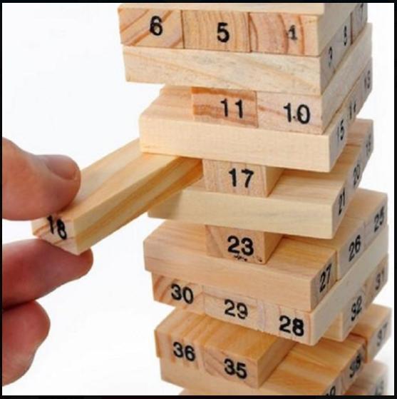 Trò chơi rút gỗ 54 thanh