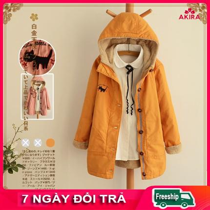 Áo khoác nữ mùa đông rét lót bông nữ dày Hàn Quốc- Áo lạnh mùa đông áo khoác kaki nữ ấm mùa đông Quần áo mùa đông nữ Áo khoác nữ ấm mùa đông Áo nhật bản nữ