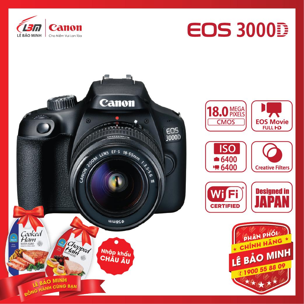 Máy ảnh Canon EOS 3000D KIT 18-55mm IS III – Chính Hãng Lê Bảo Minh