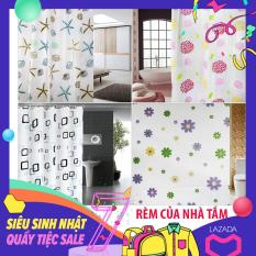 Giá rèm cuốn cửa sổ, Rèm cửa sổ đẹp, Rèm phòng tắm hình sao biển gam màu tươi sáng, thời trang, sang trọng, mang lại cho bạn cảm giác thư thái mỗi khi ngâm mình trong bồn tắm, M353
