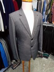 Bộ vest nam trung niên 2 nút màu xám ghi chất liệu vải bố dày mịn