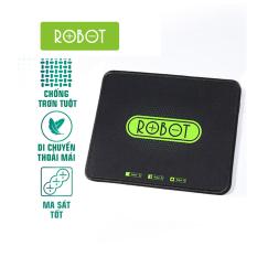 Miếng Lót Chuột Kiểu Dáng Gaming ROBOT RP01 Kích thước 22 x 18 cm Chất liệu: Vải + Cao su l HÀNG CHÍNH HÃNG