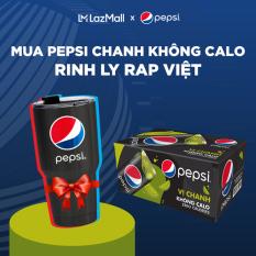 [Tặng ly Pepsi Rap Việt] Thùng 24 Lon Nước Ngọt Có Gas Pepsi Vị Chanh Không Calo (330ml/Lon)