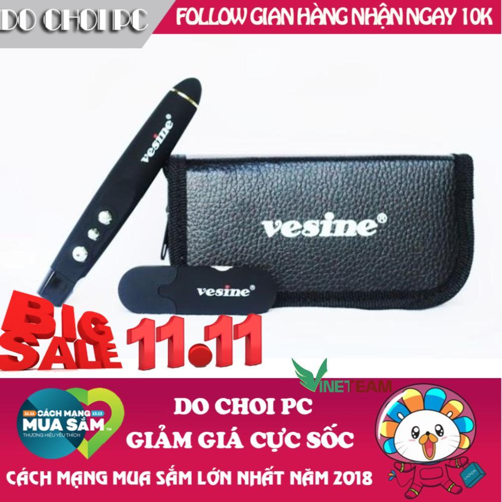 (Video hướng dẫn sử dụng) Bút Laser Point Vp101 Vesine Hỗ Trợ Giảng Dạy Trình Chiếu Slide Do Choi PC (Hà Nội) -Tặng Ví Da