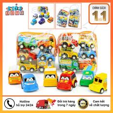 Xe đồ chơi cho bé combo 6 xe đua lên dây cót siêu dễ thương giá rẻ