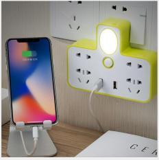 Bộ chia ổ điện Ổ cấm điện 2 cổng USB – có đèn ngủ