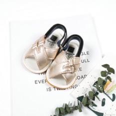 Giày sandal bằng da PU chống trượt dành cho trai và bé gái mẫu 2020