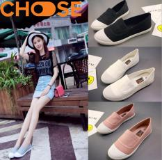 Giày Lười Nữ/Slip-on Vải Mềm Mại Phong Cách Hot Girl Hàn Quốc 0101