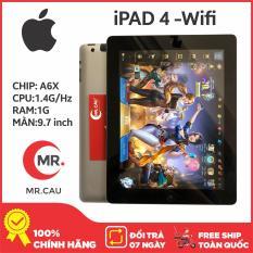 Máy tính bảng Apple IPAD 4 – 16GB -Bản WIFI + tặng BAO DA 99K, CẤU HÌNH KHỦNG DÀNH CHO GAME THỦ, BẢO HÀNH 6 THÁNG – MR CAU
