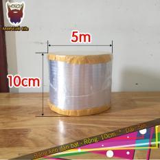10cm x 5m – Băng keo dán chống thấm mái – 10cm x 5m (Màu Bạc vuông)