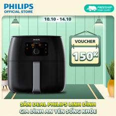 Nồi chiên không dầu Philips HD9650 XXL (1.4kg), dung tích lồng nồi 7.3L 2200W- Hàng phân phối chính hãng – Không mùi, không khói; Đa chức năng