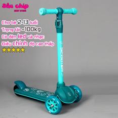 Xe trượt Scooter 601 có nhạc đèn led và bánh phát sáng, chịu lực tải 100kg dành cho bé 2-13 tuổi ( Mẫu mới 2020)