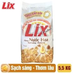 Bột Giặt Lix Extra Hương Nước Hoa 5.5Kg EH055 – Tăng Gấp Đôi Sức Mạnh Giặt Tẩy