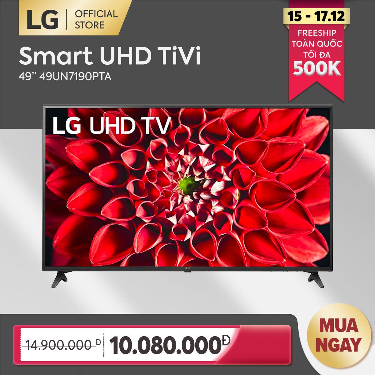 [FREESHIP 500K TOÀN QUỐC] Smart Tivi LG 49 inch 4K UHD 49UN7190PTA Model 2020 – Hãng phân phối chính thức