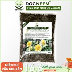 Phân bón rong biển DOCNEEM siêu kích rễ mầm, phân hữu cơ bổ sung Neemcake, phân bò ủ hoai cho hoa, cây cảnh trong nhà ngoài trời, túi 1kg