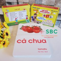 Flash Card A5 tích hợp 2 trong 1 Dạy Trẻ về Thế giới xung quanh Theo Phương pháp giáo dục sớm của Glenn Domann song ngữ Anh Việt