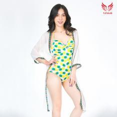 Đồ bơi bikini monokini liền thân 1 mảnh có đệm ngực họa tiết dứa trẻ trung Vingo cao cấp