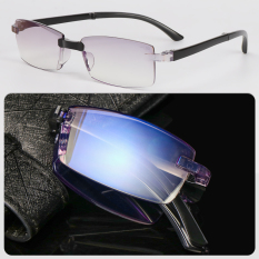 Women Men Antifatigue Vision Care Ultra Light Resin +100~+400 Diopter Present Glasses box Anti-Blue Light Reading Glasses Foldable