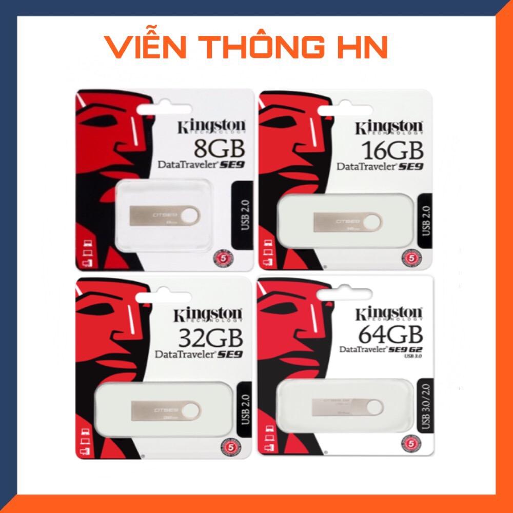 USB 2.0 Kingston DataTraveler SE9 8GB 16GB 32GB 64gb - CÓ NTFS - CAM KẾT BH 5 NĂM 1 ĐỔI...