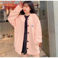 [FREESHIP TOÀN QUỐC] Áo Khoác Cardigan, Sweater, Jacket Nữ Nam Chất Nỉ Ngoại cao cấp 3 Màu Xanh, hồng,đen Unisex Form Rộng