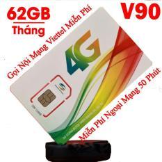 Sim 4G 10 số Viettel V90 (60Gb + 4350 phút gọi miễn phí / tháng).Sử dụng toàn quốc.