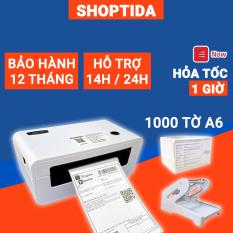 Máy in nhiệt Shoptida SP46 kèm 1000 giấy in nhiệt 10*15cm + khay, combo máy in nhiệt tự dán bảo hành 12 tháng