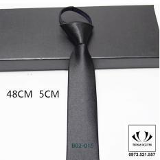 cà vạt thắt sẵn bản nhỏ Hàn Quốc, cà vạt dây kéo thắt sẵn
