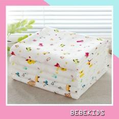 Sét 02 Khăn tắm cho bé in hoa xuất nhật 2 Lớp – Khăn xô tắm cho trẻ sơ sinh in hình KT02 Bebekids