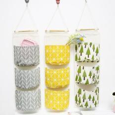 Túi Vải Treo Tường Ba Ngăn Đựng Đồ Tiện Lợi Vải Bố – Mini shop
