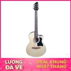 Đàn guitar Acoustic DVE70 (màu gỗ) – Duy Guitar – Shop đàn guitar đệm hát giá tốt dành cho người mới tập – Uy tín