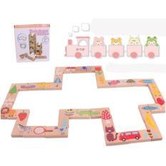 Bộ đồ chơi ghép hình, rút gỗ, nối hình domino bằng gỗ, bộ xếp gỗ thông minh, gỗ khảm tự nhiên, chất liệu sơn an toàn, giúp tăng cường sự khéo léo, và tính kiên trì cho bé