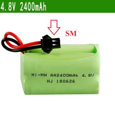 Pin sạc xe mô hình 4.8v 2400mah pin ghép hai hàng cổng nối SM