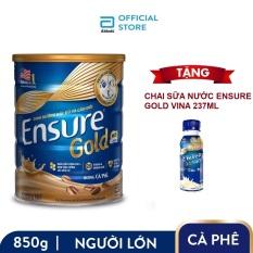 Lon Ensure Gold hương Cà phê 850g Tặng Chai sữa nước Ensure Gold Vigor 237ml