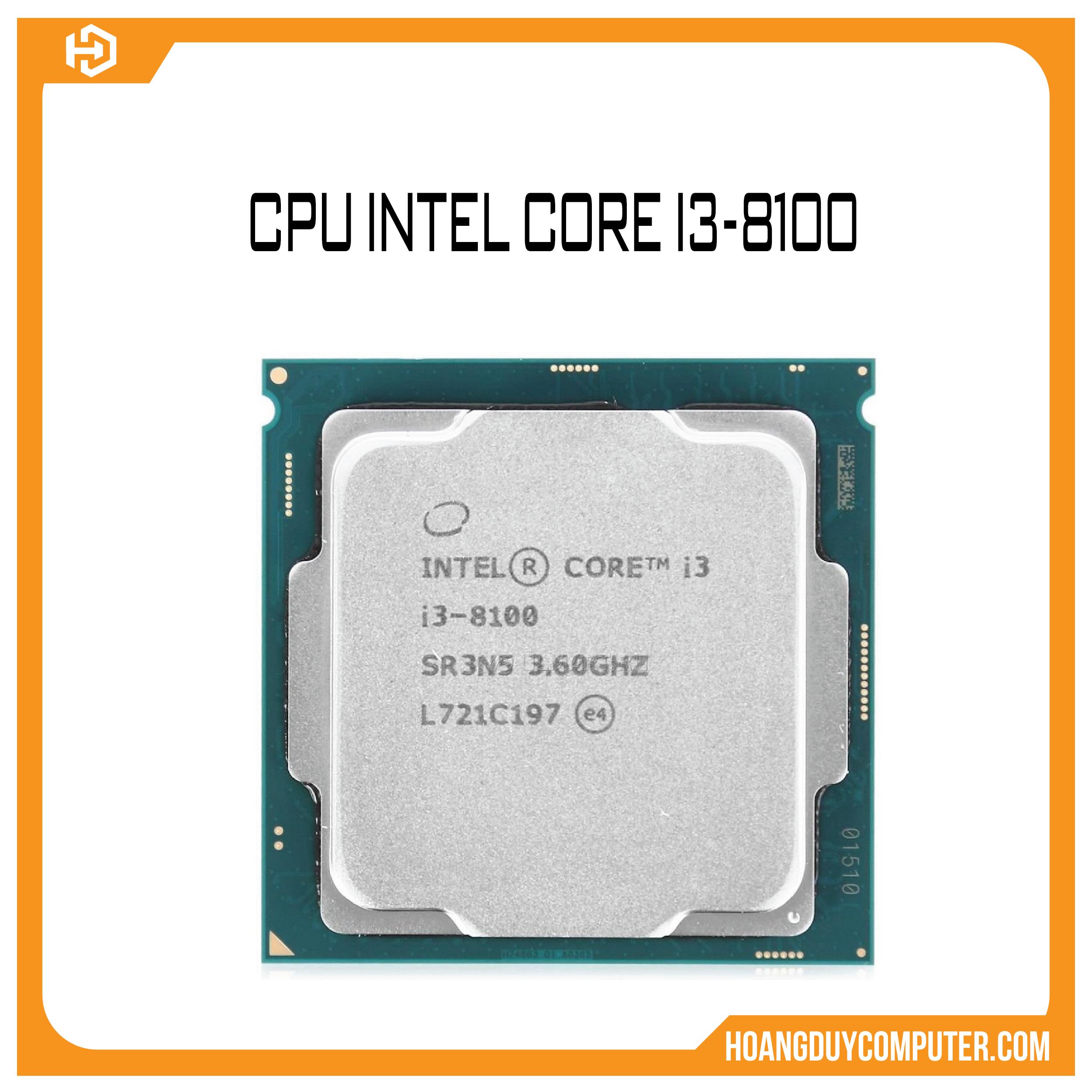 CPU INTEL CORE I3 8100 NEW TRAY BH 36 THÁNG