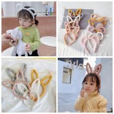 [Có sẵn] Cài tóc tai thỏ phối lông đáng yêu dành cho bé gái