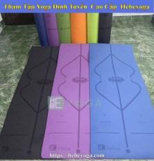 Thảm Tập Yoga Định Tuyến Hebeyoga TPE 8mm 1 Lớp Cao Cấp Kèm Túi